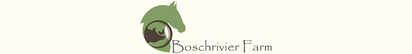 Logo of Boschrivier Farm and Stables, where you will find a beautiful farmstay cottage Plettenberg Bay's countryside is yours in luxury settings!